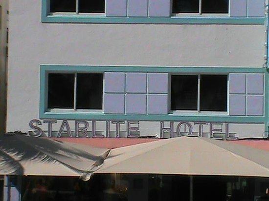 Starlite Hotel:                   View in daytime. Tents are above outdoor restaurant
