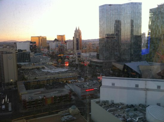 Planet Hollywood Resort & Casino :                   View from room (despite the dirty window)