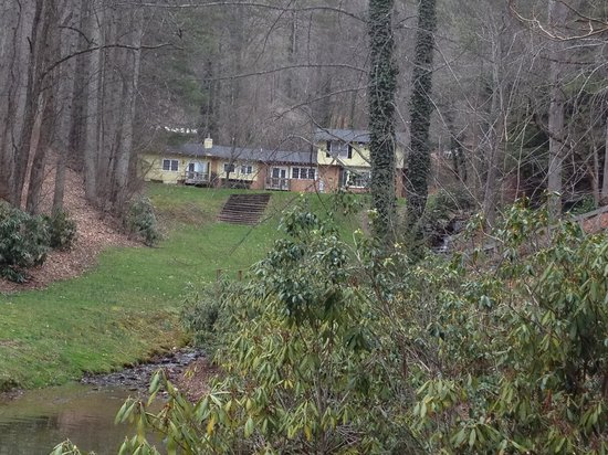 The Yellow House on Plott Creek Road:                   This photo was taken near The Yellow House looking up towards The Pond House.