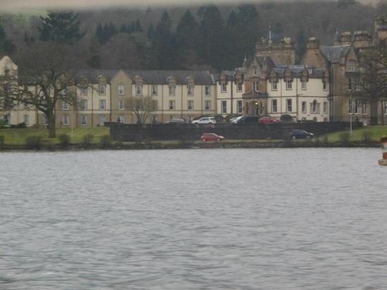 Cameron House on Loch Lomond : view of Cameron House from the boat