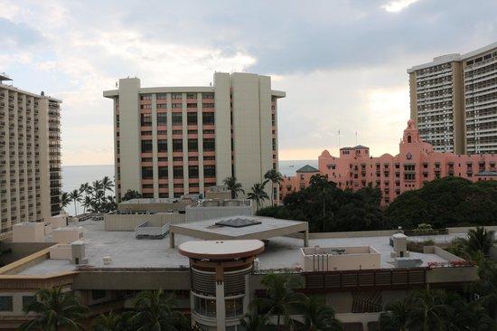Holiday Inn Resort Waikiki Beachcomber:                   Ocean view behind oceanfront hotels