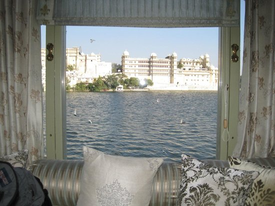 Taj Lake Palace Udaipur:                   View of City Palace from the room