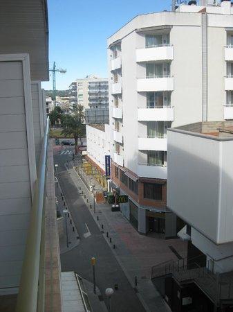 Maria del Mar:                   Balcony view, to left.