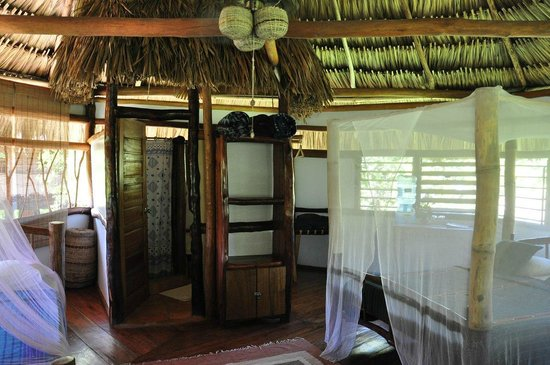 Cotton Tree Lodge:                   Inside a Standard Cabana