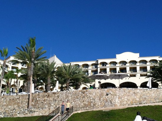Hilton Los Cabos Beach & Golf Resort:                   back of hotel