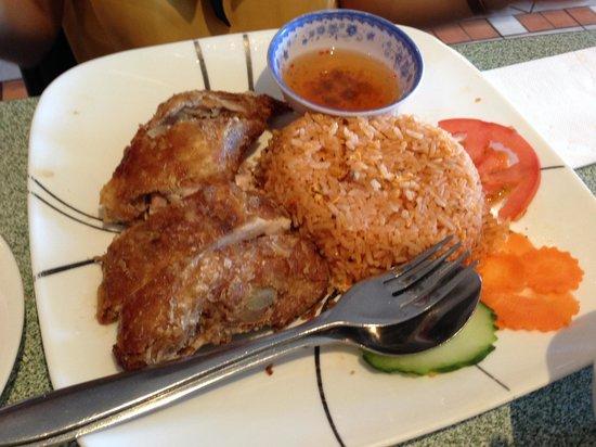 Pho Phu Quoc Vietnamese Restaurant:                                     Crispy chicken with red rice