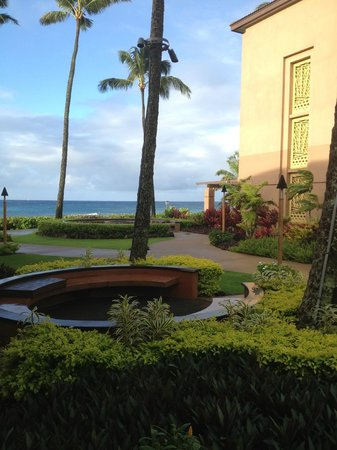 Sheraton Kauai Resort: Ocean Wing in right side of photo; Sheraton Kauai; my favorite, but further from pool & bar.