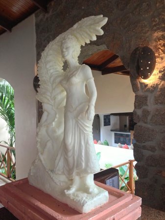 Coco de Mer - Black Parrot Suites:                   Artwork made out of butter.... only in Seychelles