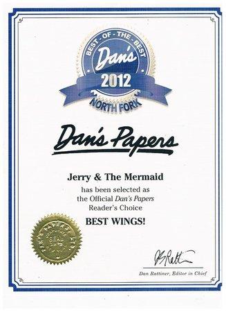 Jerry & The Mermaid: Dan's Papers, Best Wings 2012