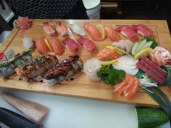 Ta-Ke Sushi:                   sushi/sashimi/maki platter