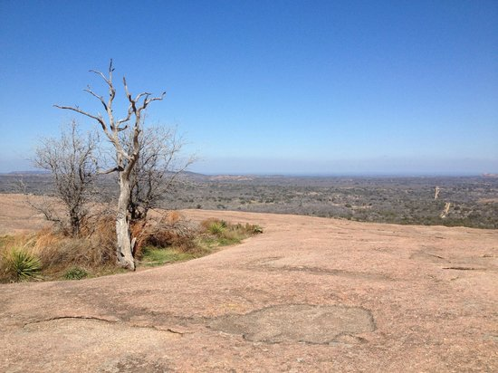 The Bed and Breakfast on Knopp School Road:                   View from atop Enchanted Rock close by