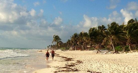 Amelie Tulum:                   Tulum beach