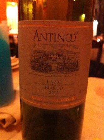 Osteria del Sostegno :                   great bottle of white wine
