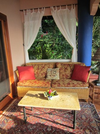 Shelter from the Storm:                   Patio of  Villa Las Rocas Arriba, SFTS, overlooks Pacific
