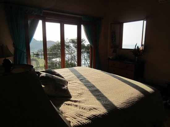 Shelter from the Storm:                   Bedroom of Villa Las Rocas Arriba, SFTS, from which you can see Pacific