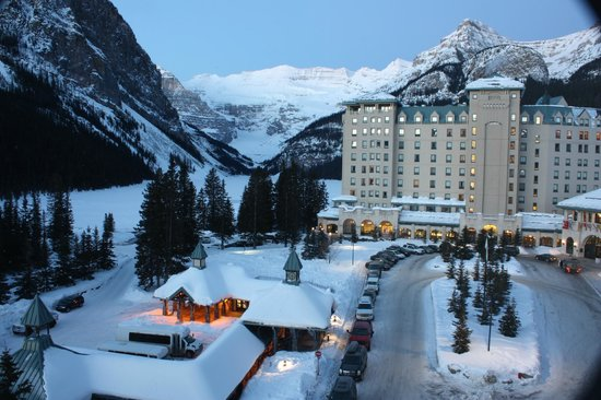 Fairmont Chateau Lake Louise:                   View from our room.