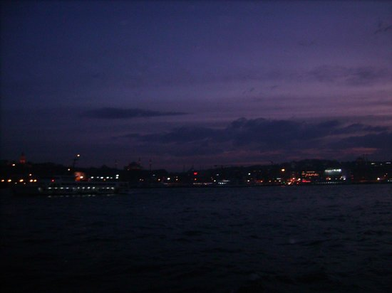 Bosphorus Strait: Dusk view form the boat