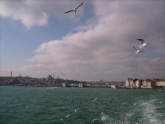 Bosphorus Strait: Eminönü and Karaköy in the distance