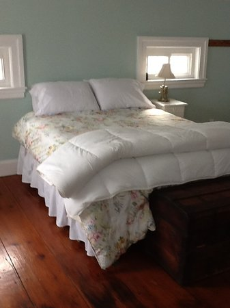 Inn BTween Farm Bed and Breakfast : This room has a king size bed and a view of the horse pasture.