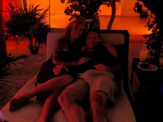 Beloved Playa Mujeres:                   Lounging at the sushi bar..our nightly ritual