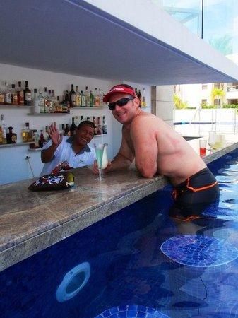 Beloved Playa Mujeres:                   Valdemar, our fav bartender!