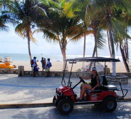 Beloved Playa Mujeres:                   Our rented ride on Isla Mujeres