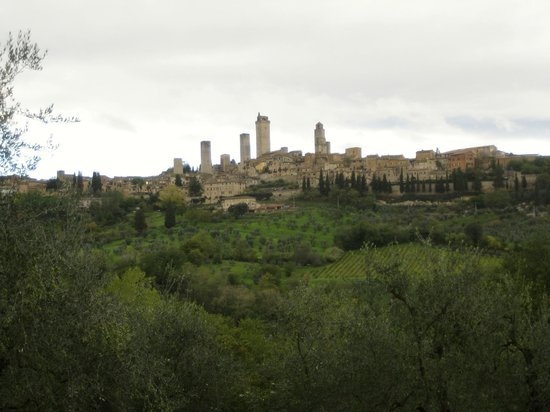 Guardastelle:                   San Gimignano from the house
