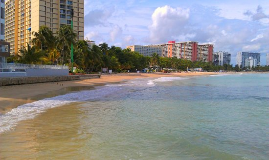 La Playita:                   Hotel Entrance View, Isla Verde Sunset Beach