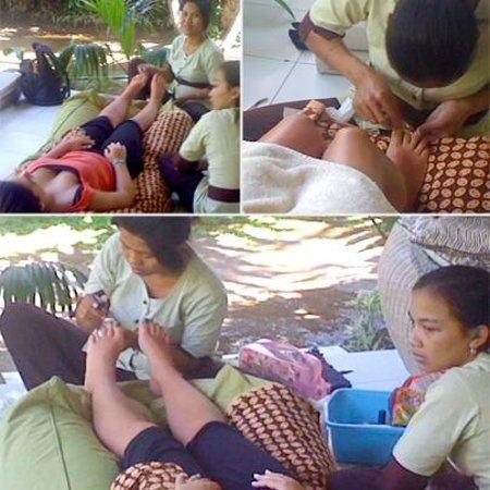 Casa Mia BnB Bali Seminyak: Spa services at home! Pedicure at Casa Mia