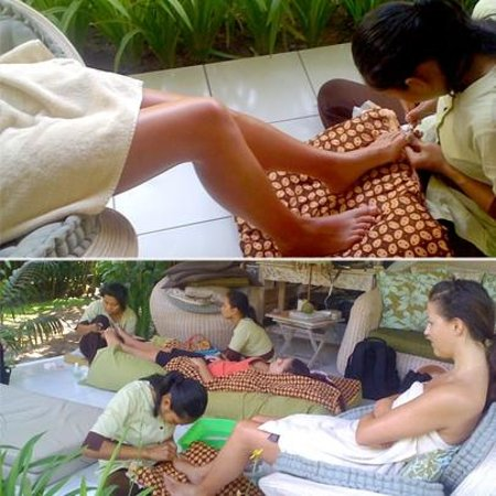 Casa Mia BnB Bali Seminyak: Spa services at home! Manucure and Pedicure at Casa Mia