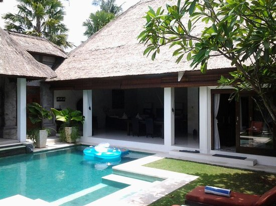 Andari Bali Villas:                   Viewing Pool from Open Lounge