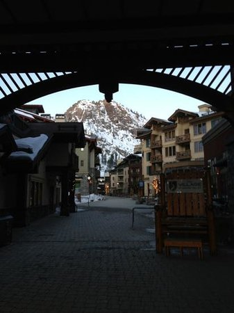 The Village At Squaw Valley:                                     7am walk to the village starbucks