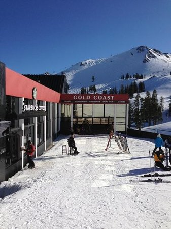The Village At Squaw Valley:                                     ski thru starbucks on the mountain