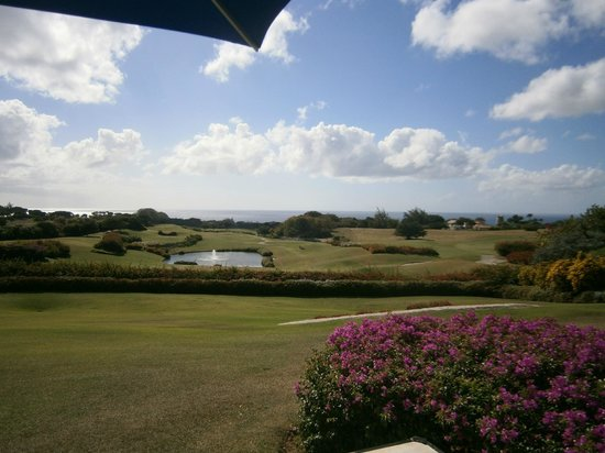 Sandy Lane Country Club Restaurant :                   View from restaurant