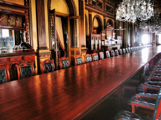 Taj Falaknuma Palace:                   Dining Table in Palace