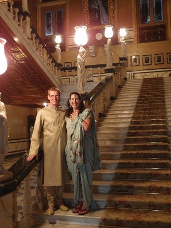 Taj Falaknuma Palace:                   Grand Staircase