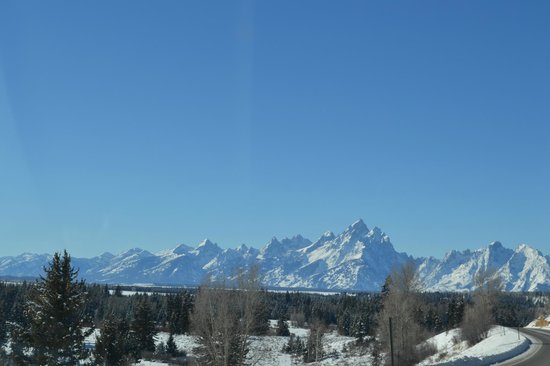 Jackson Hole, WY:                                     Jackson beautiful road