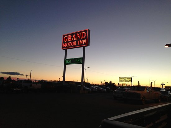 Grand Motor Inn, Hotel & Restaurant:                   Front sign - don't judge it's a nice place!