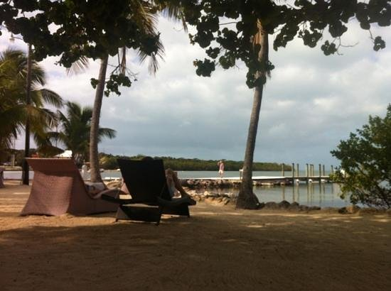 Lime Tree Bay Resort:                   view from the resort beach. we were sitting on a hammock