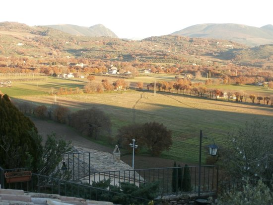 La Bastiglia : View from our window looking east