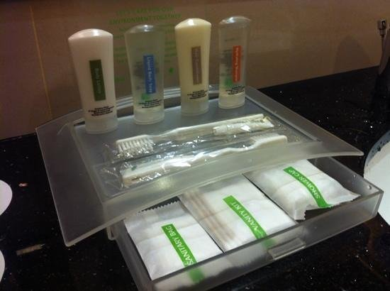 Holiday Inn Melaka:                   Basic toiletries in the bathroom. You can request for more and other items suc