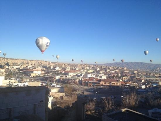 Cappadocia Cave Suites: view from our terrace at 7 am