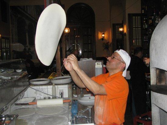 La Piazza:                   Pizza maker