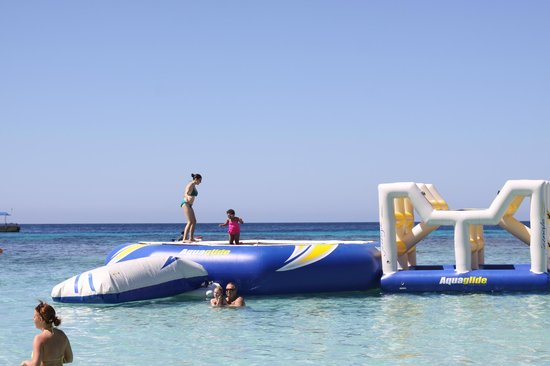 West Bay Lodge and Spa: Trampoline fun (available Cruise Ship Days only)