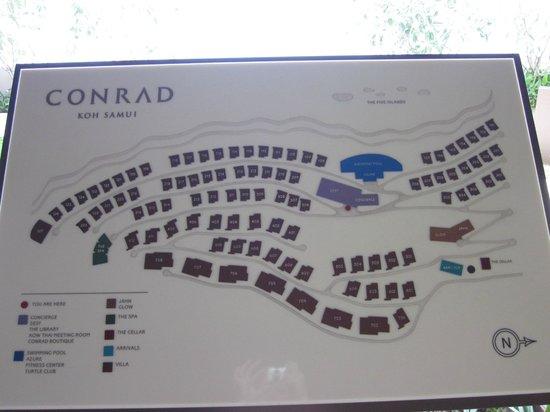 Conrad Koh Samui:                   Map