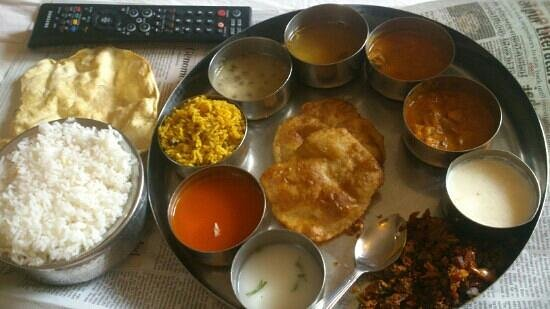 Hotel Suman Residency:                   very tasty south Indian thali served at hotel room