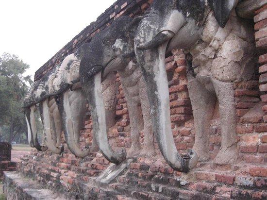Wat Chang Lom : Elephant wat