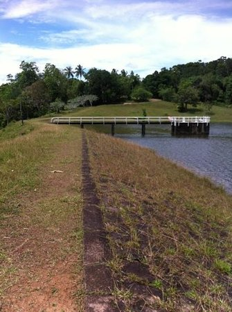 Hiyare Rainforest Reservoir:                                     walking along the path cost USD0.90. They wanted another USD