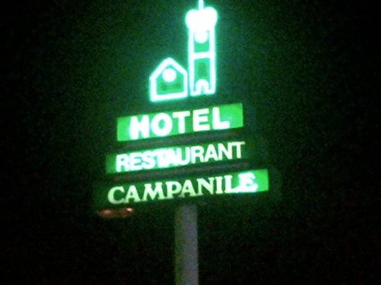 Campanile Brussels Drogenbos:                   Hotel Sign seen from highway
