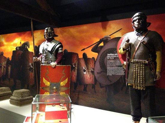 Roman Army Museum:                   Roman soldiers